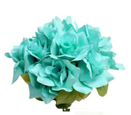 Velvet Bloom Roses in Turquoise