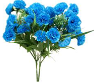 21 Turquoise Carnations