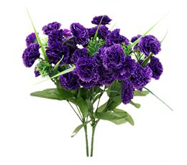21 Purple Carnations