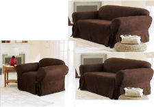 3Pc Brown Slip Covers
