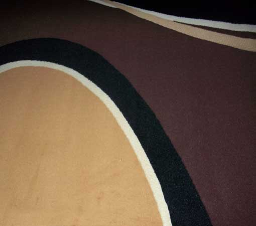 Tan and Brown Area Rug