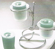 Double Frosted Candle Holder