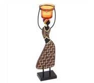 Tribal Maiden Candle Holder