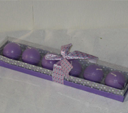 Lavender Ball Candles Gift Set