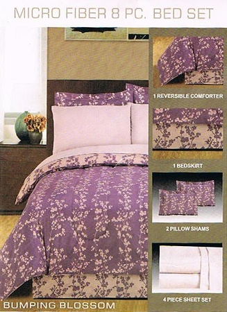 Bed in a Bag, King Size Pink and Lavender