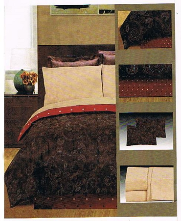 King Size Bed in a Bag - Brown