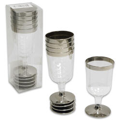 5pc Plastic Wine Glasses