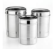 3pc Aluminum Cannister Set