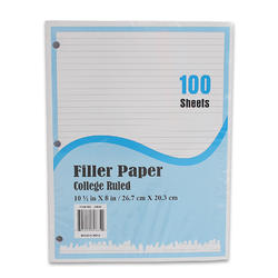 100ct College Rule Filler Paper